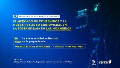 Photo of Evento online: «El Mercado de Contenidos y la nueva realidad audiovisual en la pospandemia en Latinoamérica»