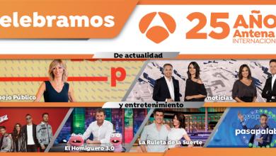 Photo of Antena 3 Internacional celebra 25 años de televisión en las Américas